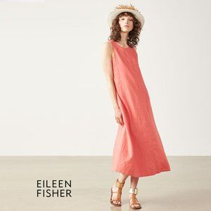 EILEEN FISHER Relaxed Fit A-Line Dress Small